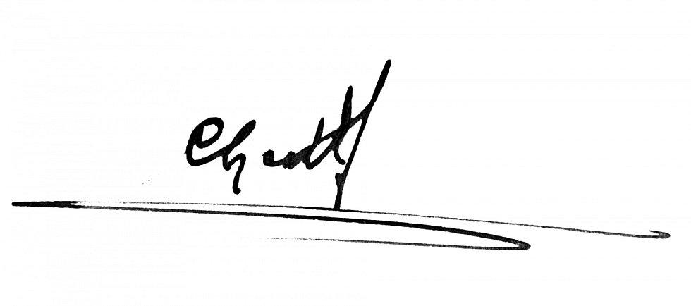 Podpis Chadta Ševětínského