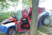 Škoda Fabia, níž zemřel ve středu odpoledne její řidič.