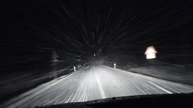 Do jižních Čech dorazil sníh
