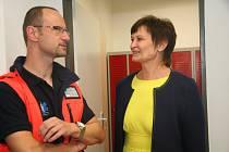Otevření nové základy pro záchrannou službu ve Lhenicích.