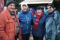 Novoroční výstup na vrchol Libína, prvního ledna 2016.