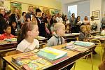 První školní den na ZŠ Čkyně.