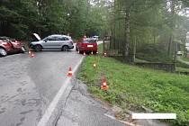 Nehoda u Husinecké přehrady.