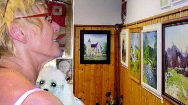 VÝSTAVA. Obrazy a knihy o Šumavě jsou ke zhlédnutí po celý týden v místní škole, nacházející se nedaleko kaple a její součástí byla již tradičně i autogramiáda zde vystavovaných autorů.