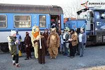 Jízdy silvestrovských vlaků na Šumavě.