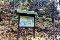 Zážitková trasa víly Majolenky, kterou vedení města doporučuje, lázeňskou kolonádou a pod americkou zatáčkou.