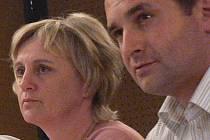 Zastupitelé Dagmar Rückerová a Martin Paštika.