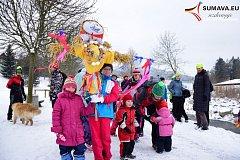 Vítání jara a vynášení Morany ve Vimperku.