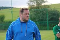Trenér FK Lažiště Josef Raušer.