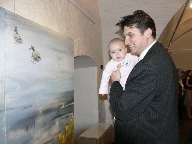 Vernisáž výstavy Jana Spěváčka v Galerii Dolní Brána v Prachaticích, která se uskutečnila 2.3.2009.
