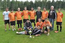Vítězný tým zdíkovských fotbalistů.