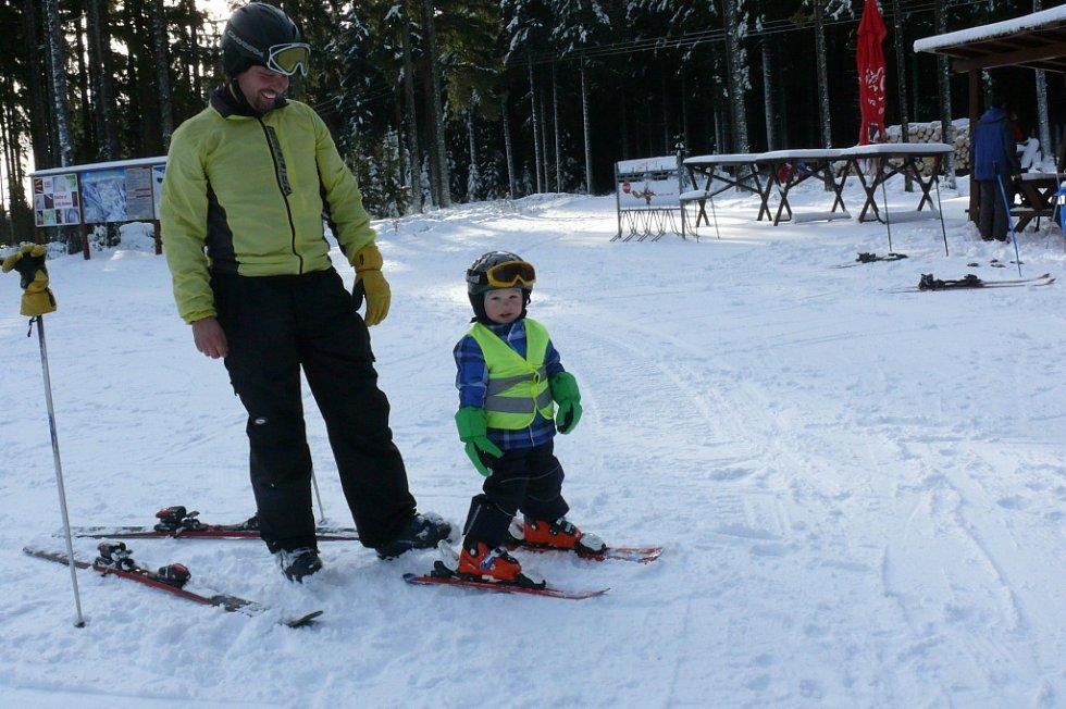 První lyžovačka této sezony na Zadově.