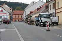 Jánská ulice v Prachaticích.