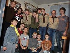 Skauti oslavili Vánoce předčasně, v pátek 15. prosince.