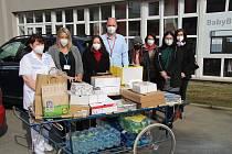 Podpora pro zdravotníky do nemocnice doputovala od prachatického gymnázia.