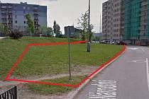 Jedna z možných lokalit pro rozšíření parkovacích míst, jak ji navrhuje Robert Zeman.