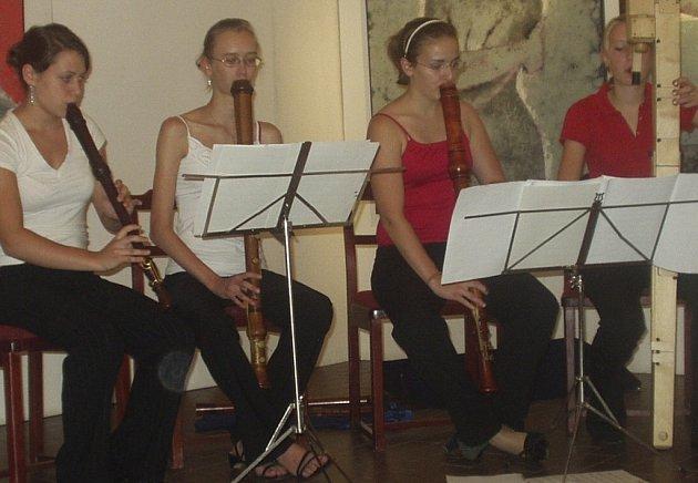 NĚMECKÉ KVARTETO NA LETNÍ ŠKOLE. Při Letní škole staré hudby se představilo také skvělé německé kvarteto Il quadrifoglio musicale.