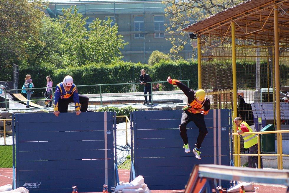 V sobotu se na prachatickém stadionu konala soutěž hasičů.