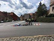 Nehoda v Husinci. Střet nákladního automobilu s cyklistou.