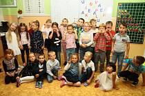 První A třída v Základní škole v ulici Zlatá stezka v Prachaticích.