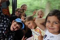 Příměstský tábor ve Sluníčku si děti užívají.