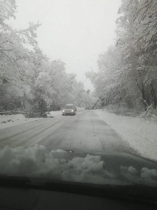 Silnice z Husince na Vimperk.