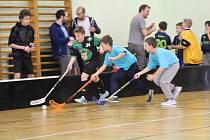 Sváteční turnaj florbalové mládeže v Netolicích.