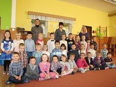 Předškoláci z Mateřské školy Prachatice, na Skalce.