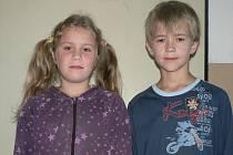 Na otázky odpovídali třeťáci ze Základní školy v Netolicích, přesněji Jan Bouza a Barbora Kadlecová