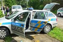 Automobil městské policie.