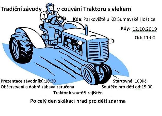 Závod vcouvání traktorů
