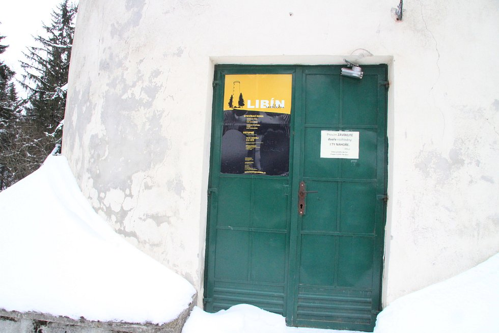 Vchod na do rozhledny Libín.