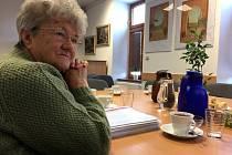 Setkání s autorkou knihy o pochodu smrti, Jaroslavou Krejsovou z Volar.