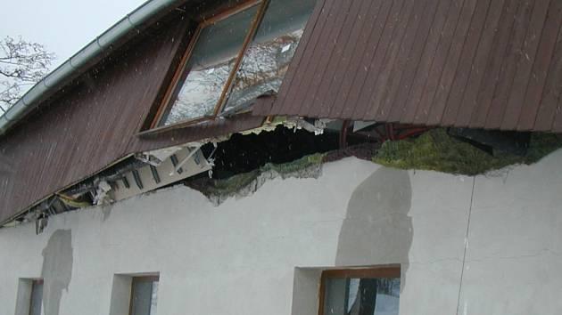 Hasičské muzeum poškodil sníh