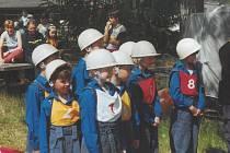 Děti soutěžily při okresním kole Hry Plamen na Podroužku.