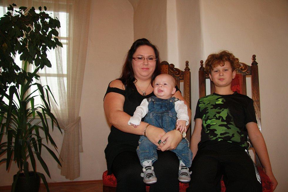Marek Dominik Volšička s rodinou.