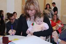 Prvním miminkem letošního roku ve Vimperku je Lucie Gubaniová.
