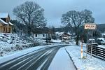 Na Kvildě napadl sníh.