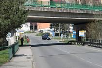 Příjezd ke křižovatce Fišerka ve směru od Prachatic.