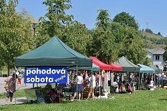 V sobotu hodinu po poledni se do Městského parku u Volyňky nastěhovali podnikatelé z Vimperka a okolí.