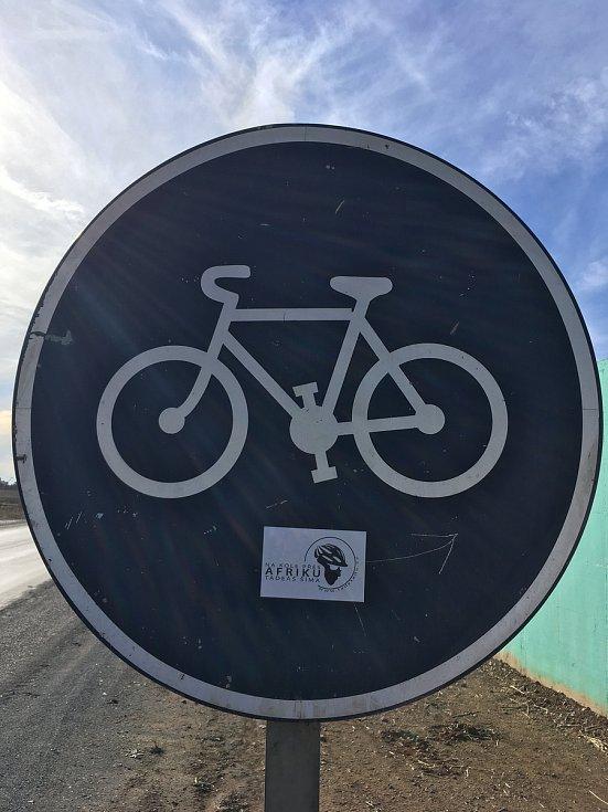 Tadeáš Šíma, Na kole přes Afriku.