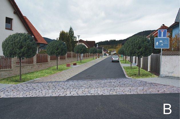 Duhová ulice vPrachaticích - varianta B