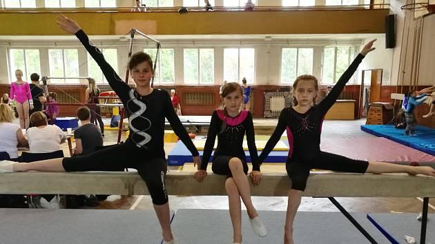 Vimperské gymnastky se v Jindřichově Hradci neztratily.