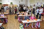 První školní den v Základní škole Strunkovice nad Blanicí.