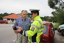 Dopravní akce prachatických policistů.