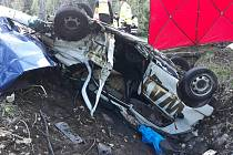 Tragická dopravní nehoda, při níž přišli o život dva muži, se stala v pátek odpoledne u Kubovy Huti.