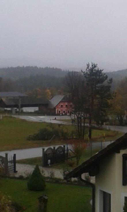 Pohled na Blažejovice.