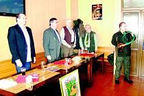 Sněm myslivců navštívil i prachatický starosta Martin Malý.
