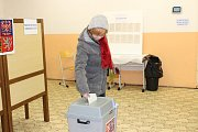 Prezidentské volby v prachatické volební místnosti číslo 4.