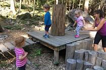 Areál lesních her v Prachaticích.